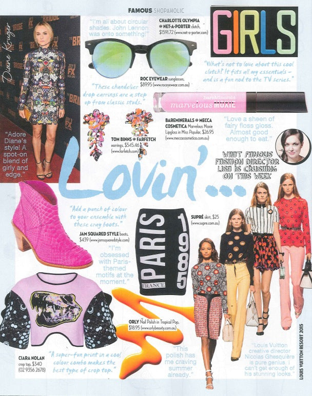 Famous Magazine September Issue ROC Sunglasses and Hat 2