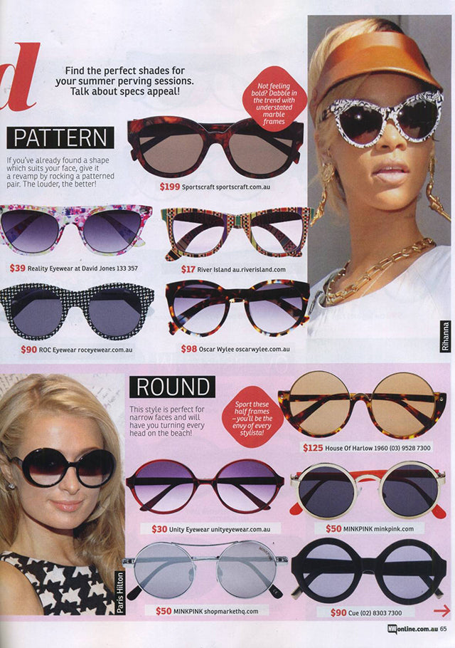 New Weekly Magazine November Issue ROC Dots Purple Sunglasses 2