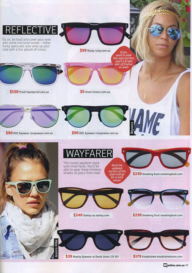 New Weekly Magazine November Issue ROC Dots Purple Sunglasses 3