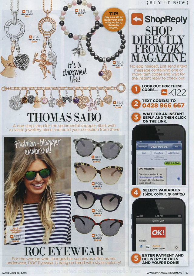 OK! Magazine November Issue BW Sunglasses 2