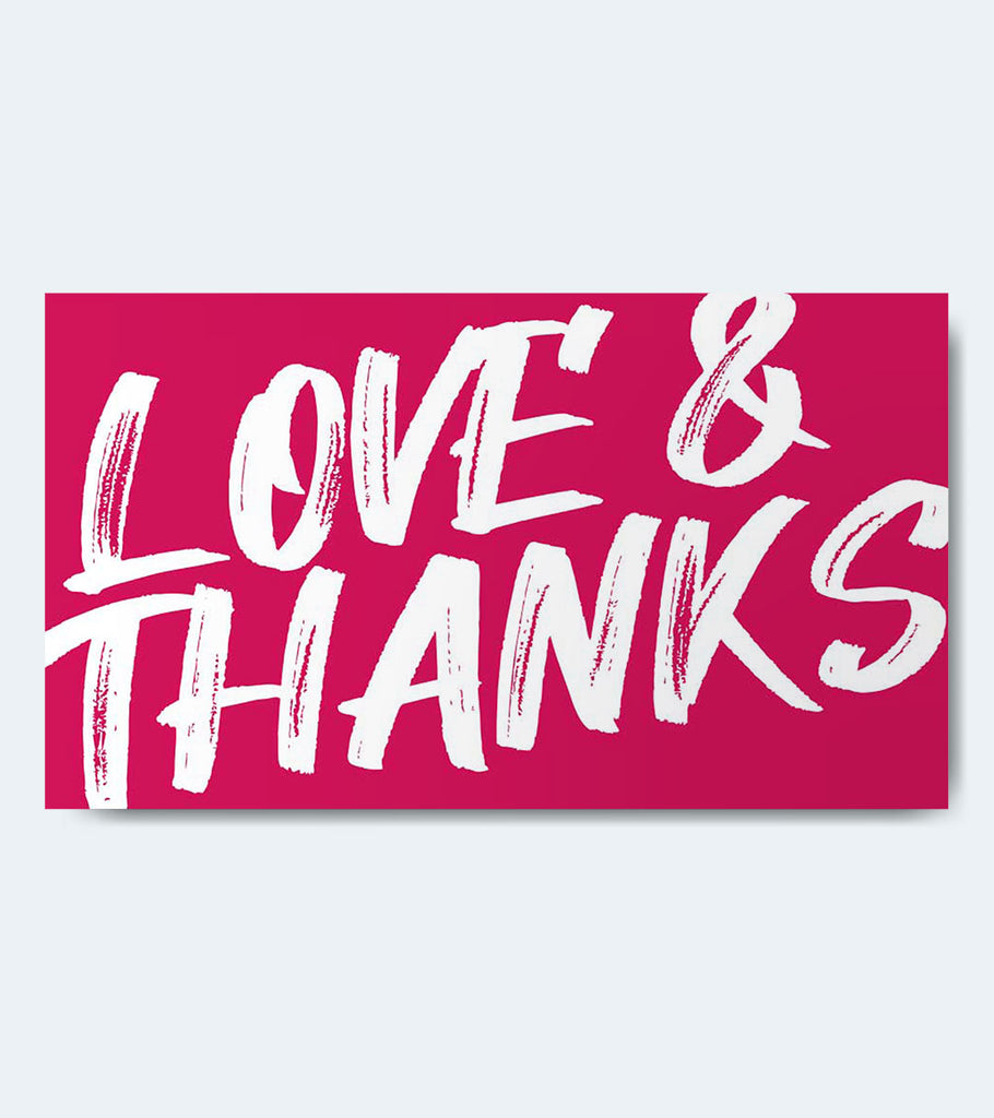 Gift Card - Love and Thanks