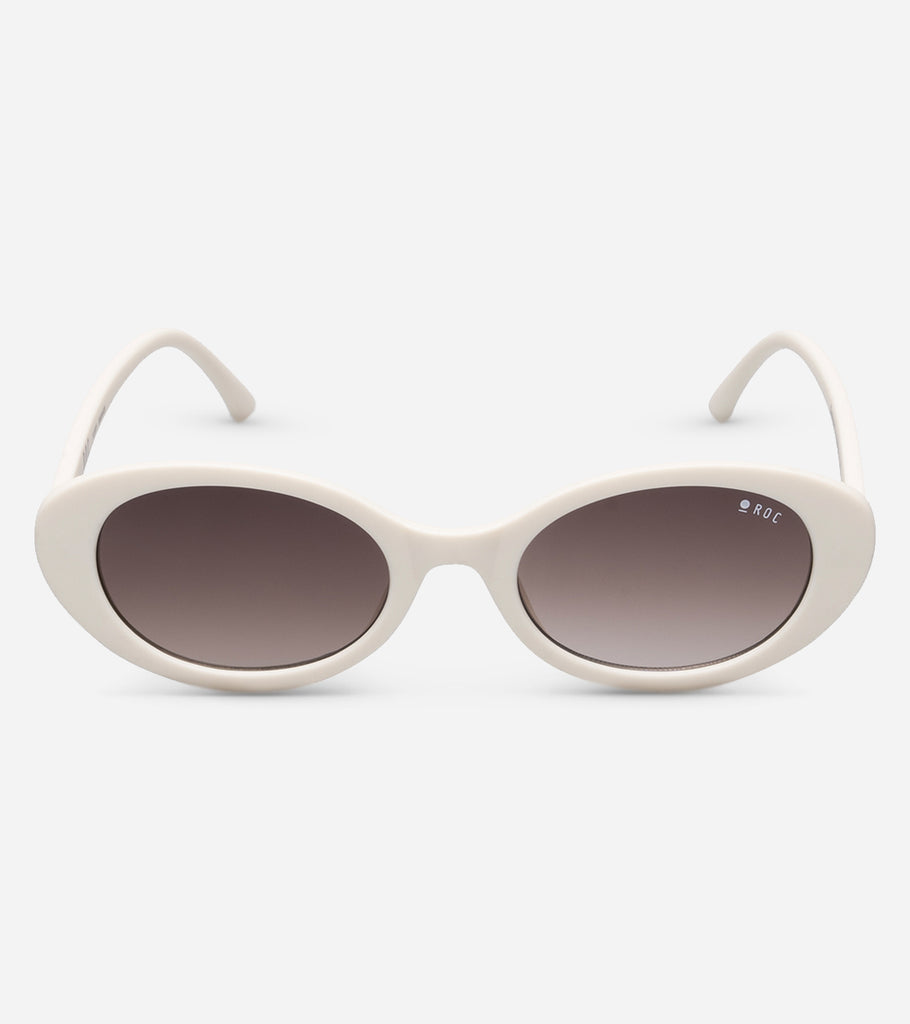Flirty - Matte Off White / Brown