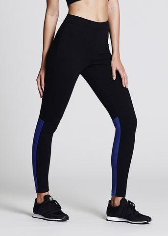 Black Panel Leggings - size L & XL only