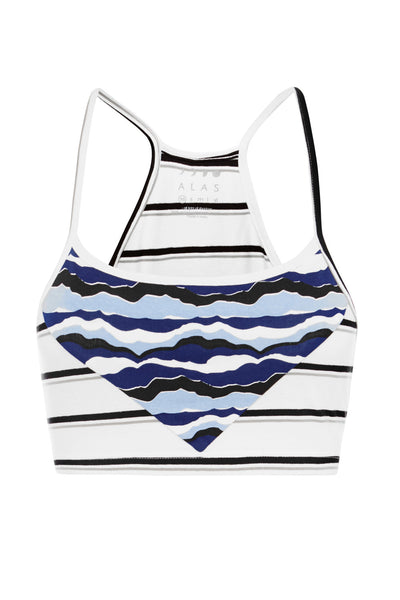 Stripe/Waves Basic Bralette
