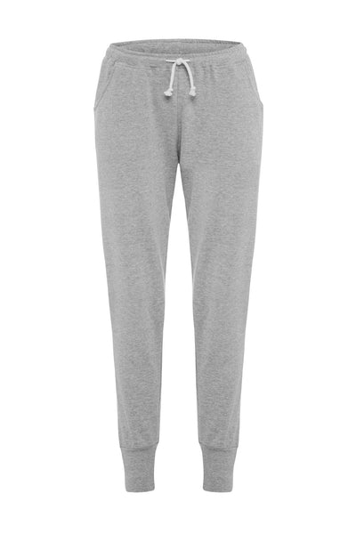 Grey Melange Fleece Pants