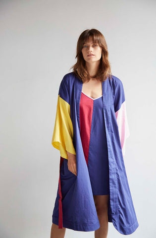 Colour Block Robe