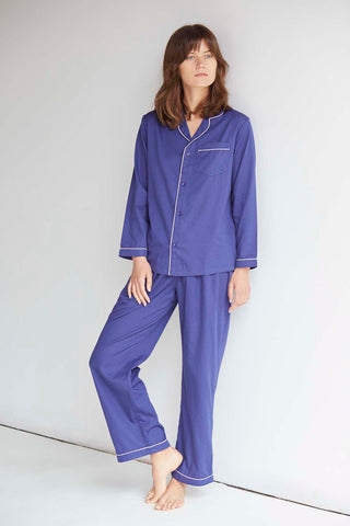 Navy Long Sleeve Pyjama Set