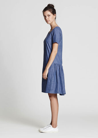Relaxed Chambray Dress