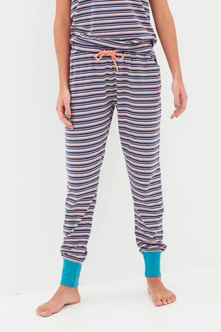 Seaside Stripe Jersey Pants