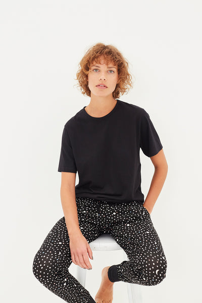 Black Telescope Jersey Pants
