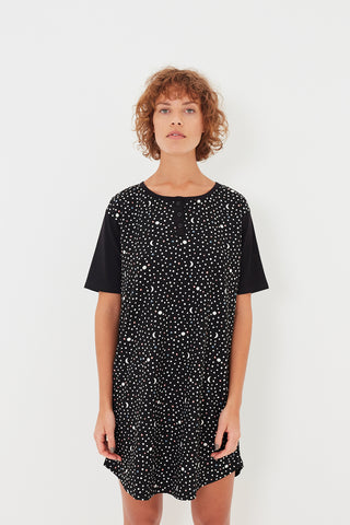 Black Telescope T-shirt Nightie