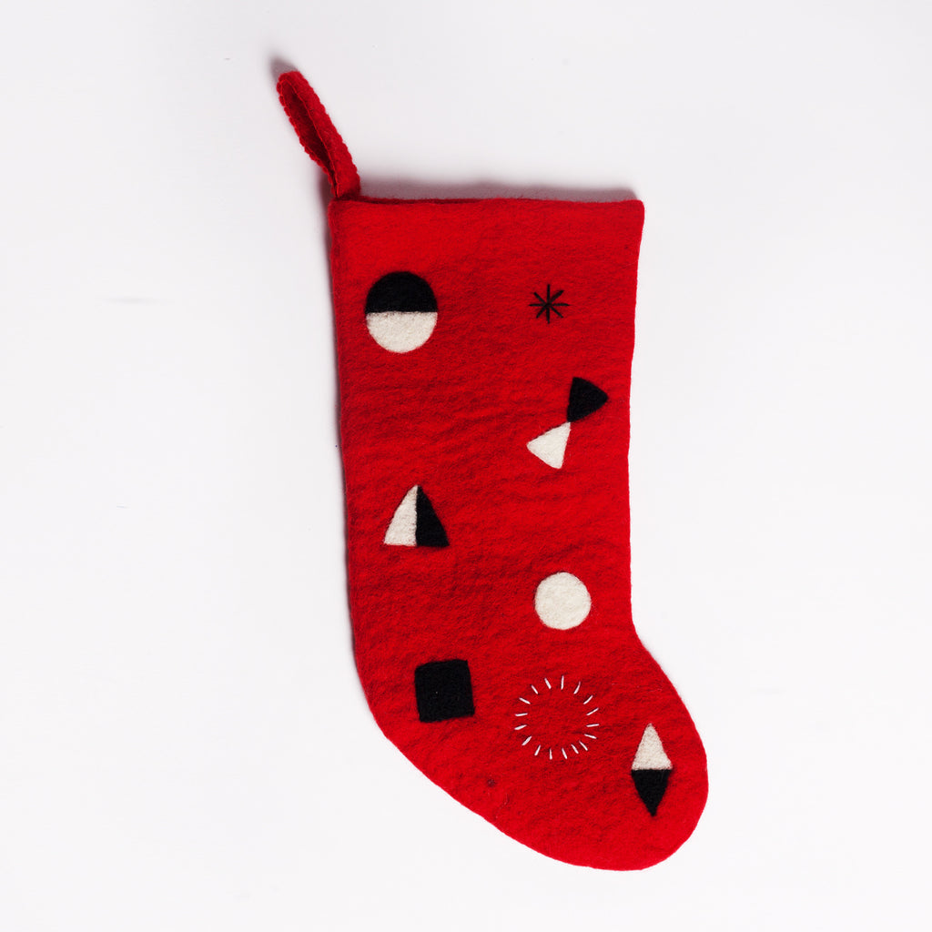 Abstract Stocking Red