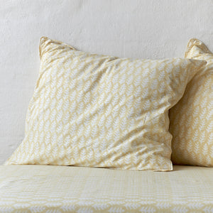 Leaf Mustard Pillowcase 2 pc