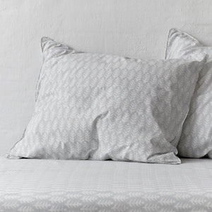Leaf Rustic Grey Pillowcase 2 pc