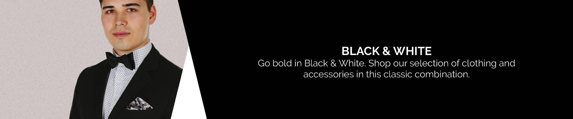 Shop the James Harper Collections of Men's Clothing and  Accessories in Black and White