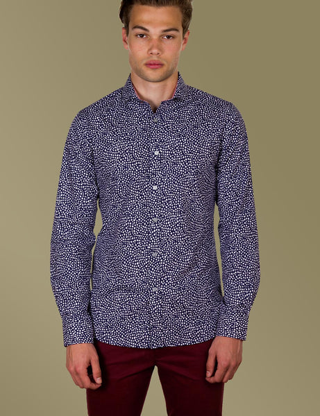 Bradley Spot Print Shirt (Slim Fit)