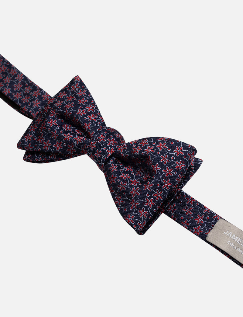 Ditsy Floral Bow Tie