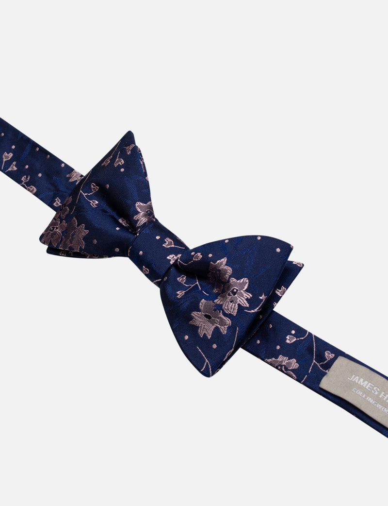 Floral Leaves Bow Tie