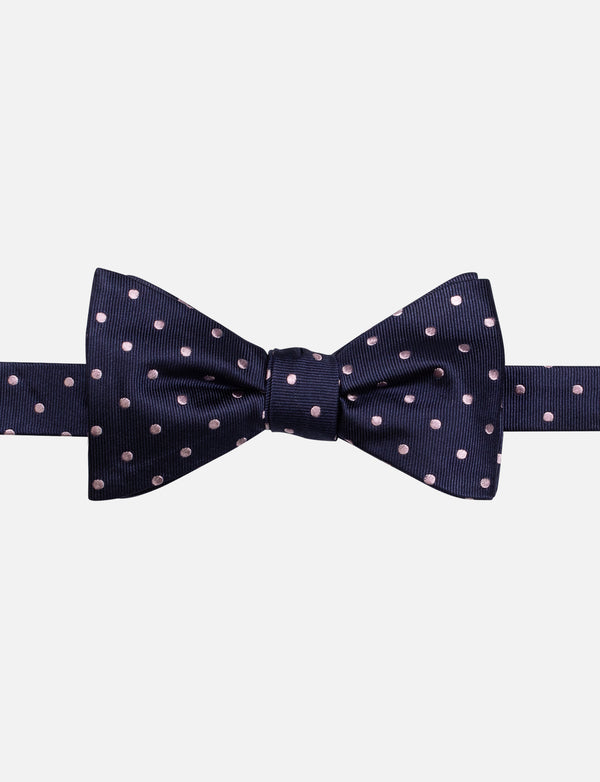 Pink Spot Bow Tie