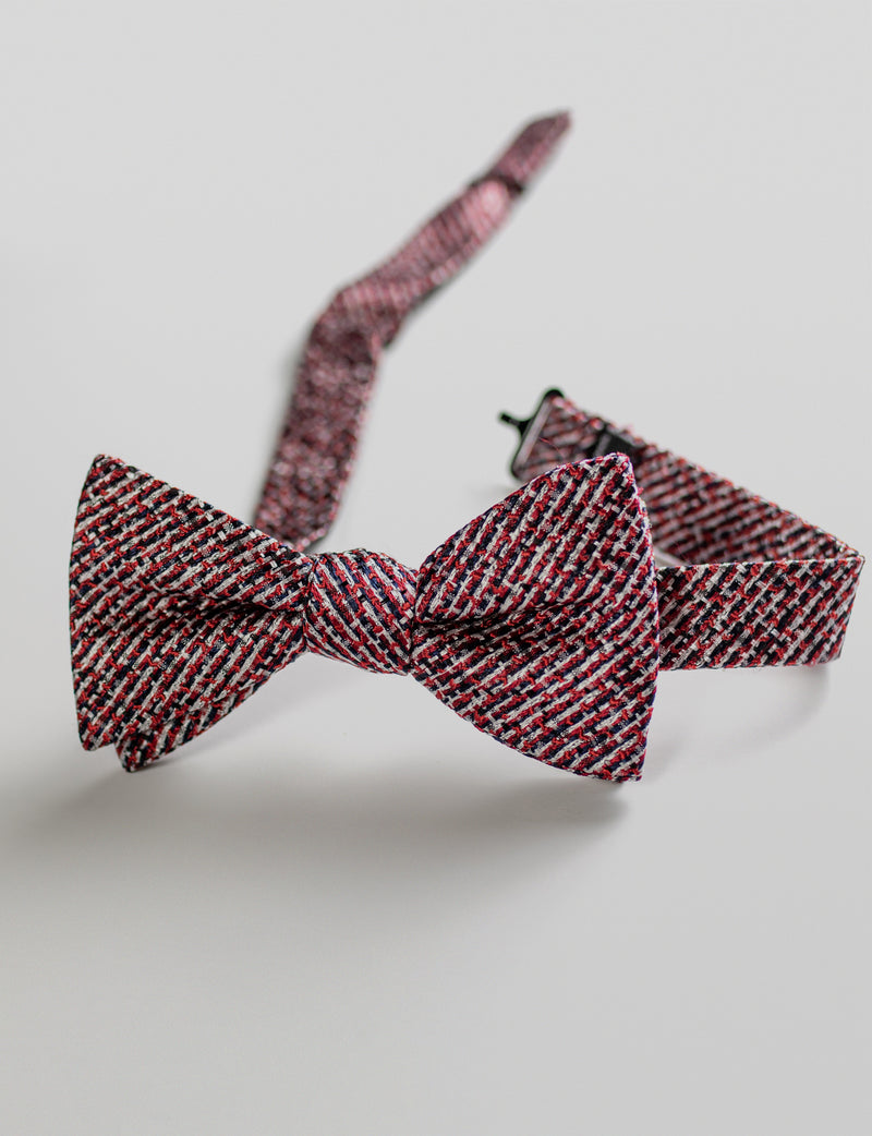 Burgundy Textured Bow Tie