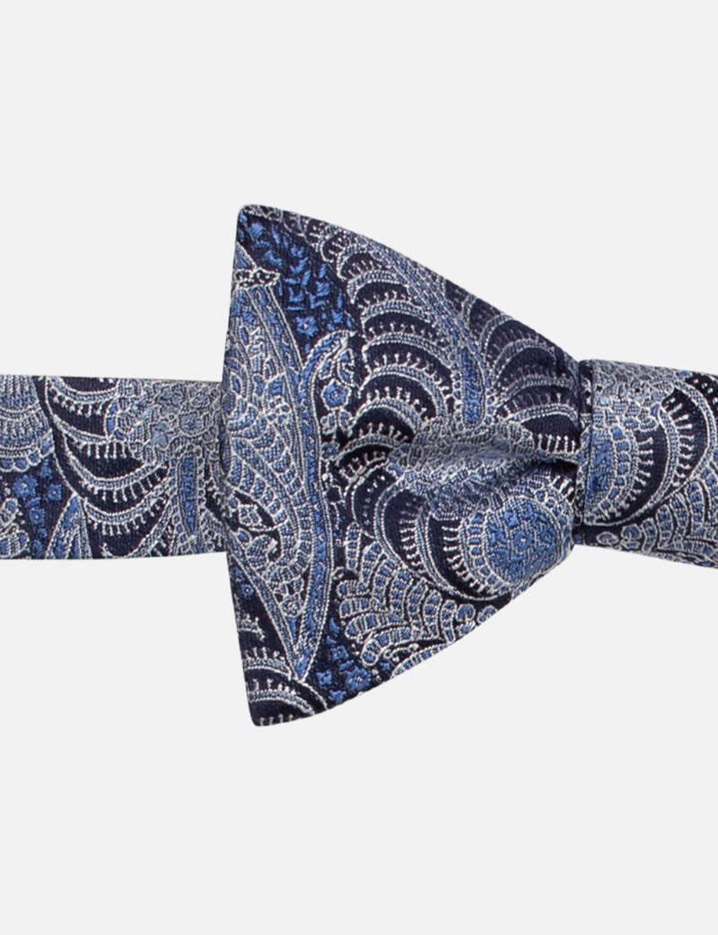 Paisley Bow and Palm Print Pocket Square Set