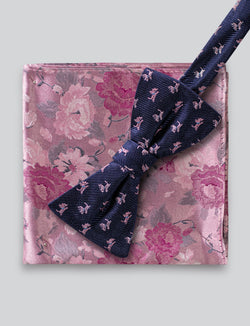 Scotty Dog Bow Tie and Floral Pocket Square Set