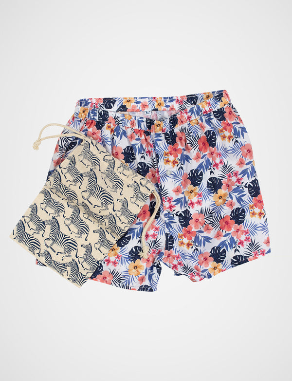 Hawaiian Print Sleep Shorts
