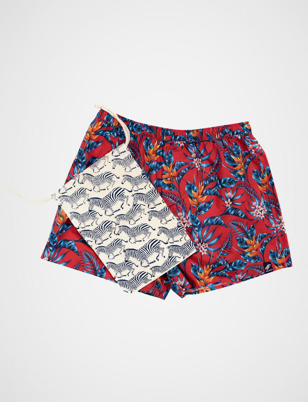 Hawaiian Floral Print Sleep Shorts