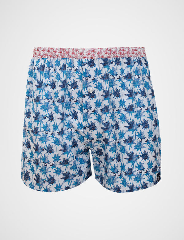 Palm Island Print Sleep Shorts