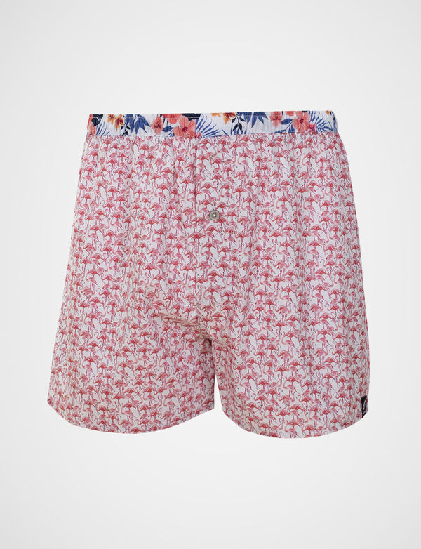Pink Flamingo Print Sleep Shorts