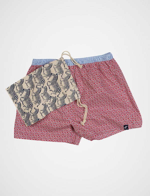 Small Floral Print Sleep Shorts