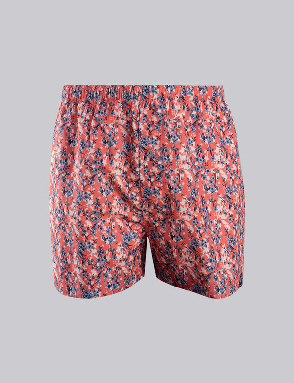 Floral Bird Print Sleep Shorts