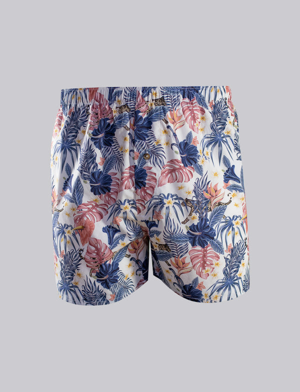 Tropical Leopard Print Sleep Shorts