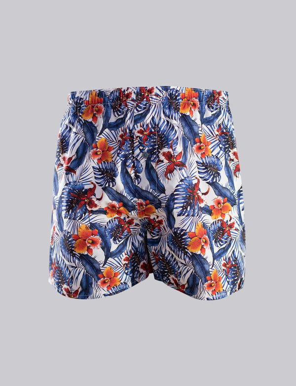 Tropical Floral Print Sleep Shorts