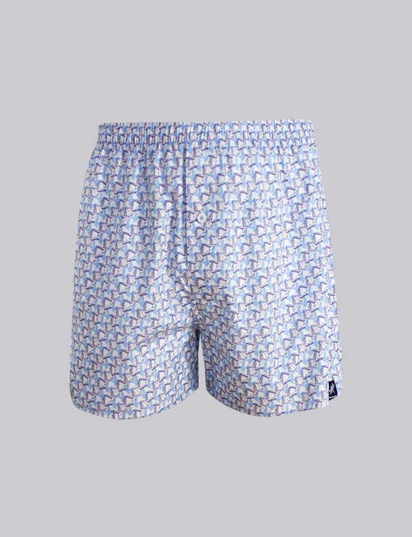 Flying Ducks Print Sleep Shorts
