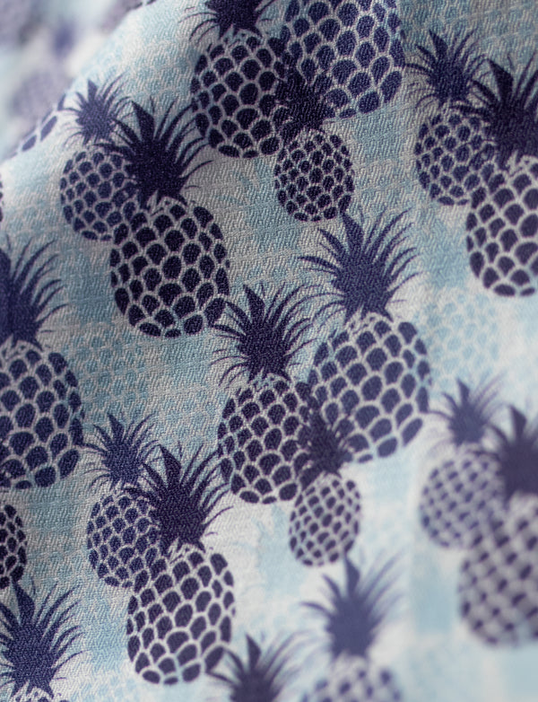 Pineapple Overlay Print Sleep Shorts