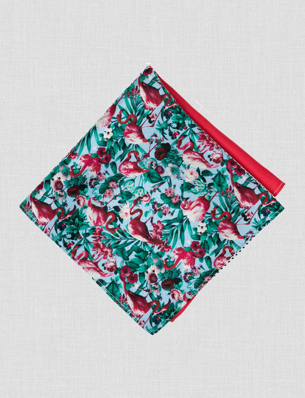 Flamingo Four Way Pocket Square