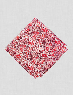 Field Poppy Pocket Square