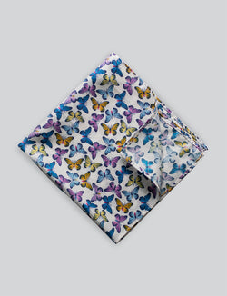 Butterfly Printed Pocket Square