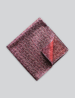 Red Textured Pocket Square