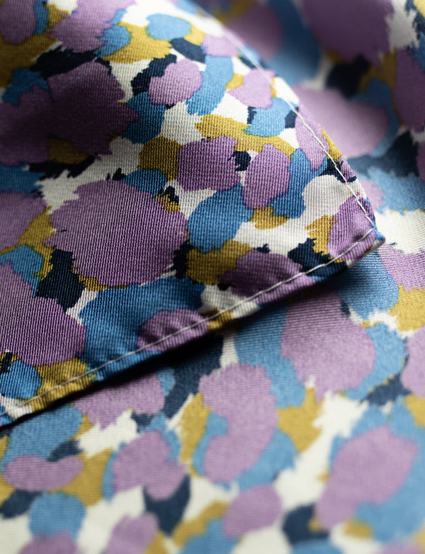Purple and Blue Animal Print Pocket Square
