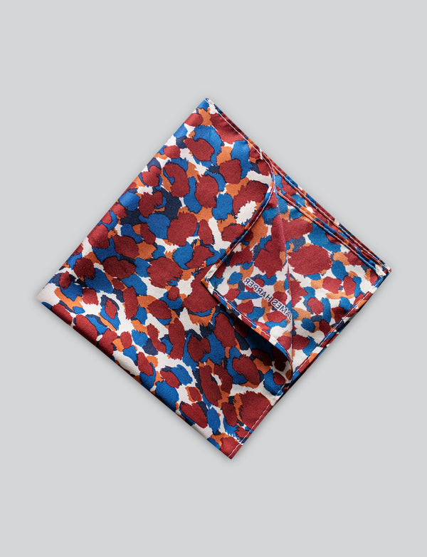 Red Animal Print Pocket Square