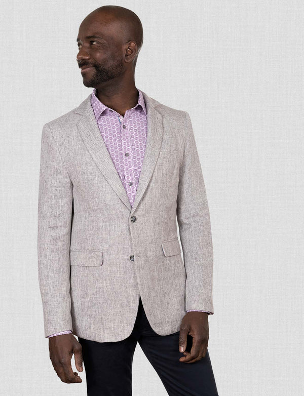 Textured Grey Blazer