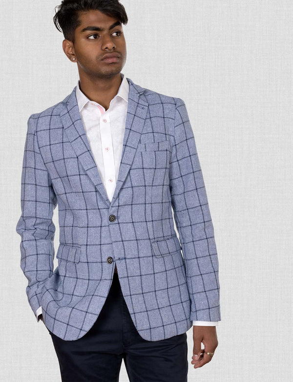 Windowpane Check Blazer