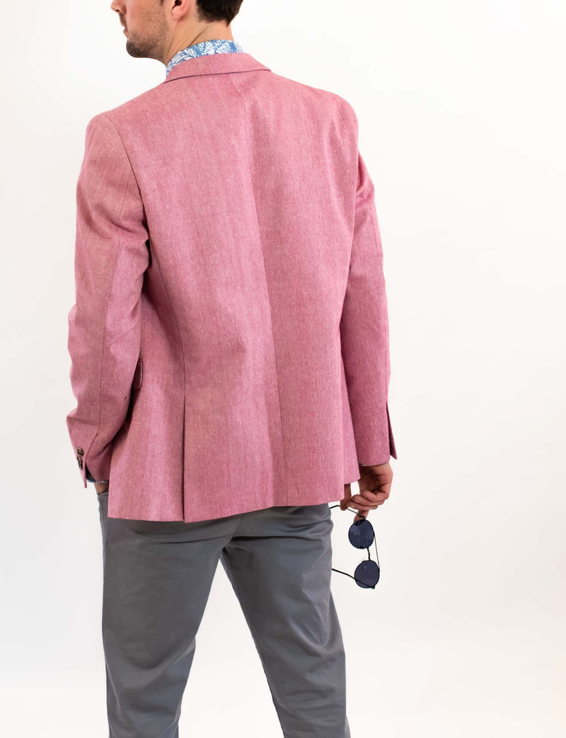 Pink Cotton Linen Blazer