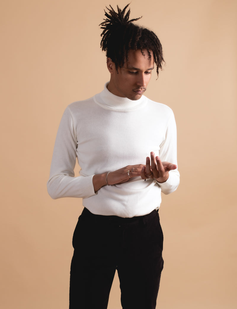 Cream Turtleneck