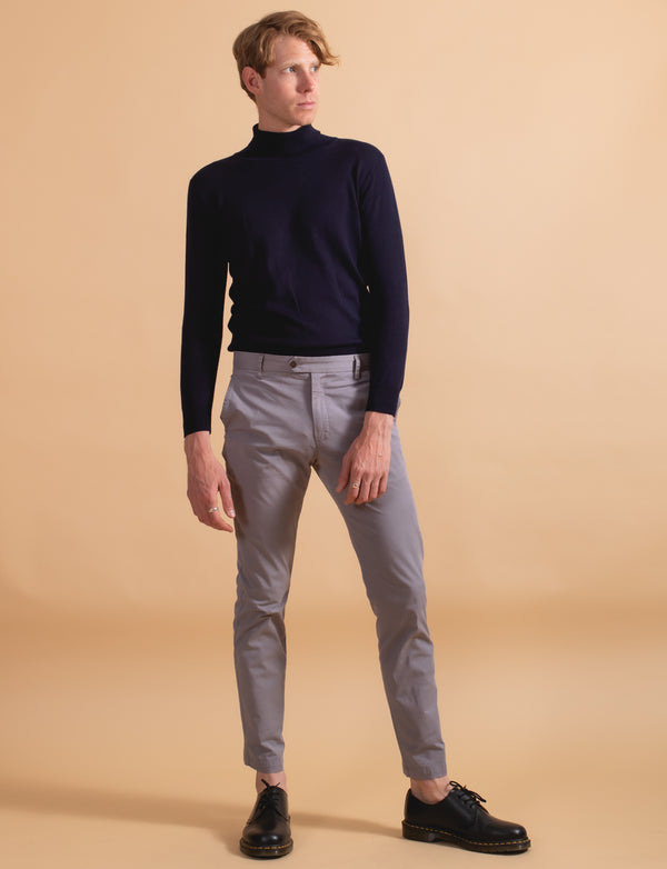 Navy Turtleneck
