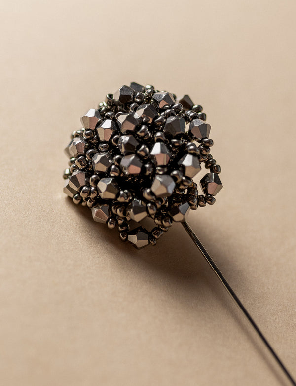 Beaded Cluster Lapel Pin