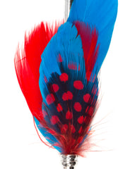 Blue & Red Feather Lapel Pin
