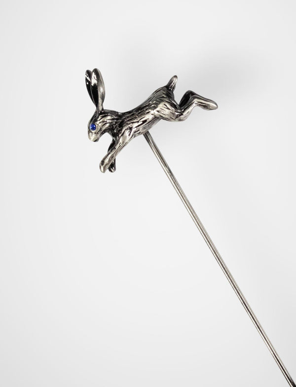 Antique Silver Rabbit Lapel Pin
